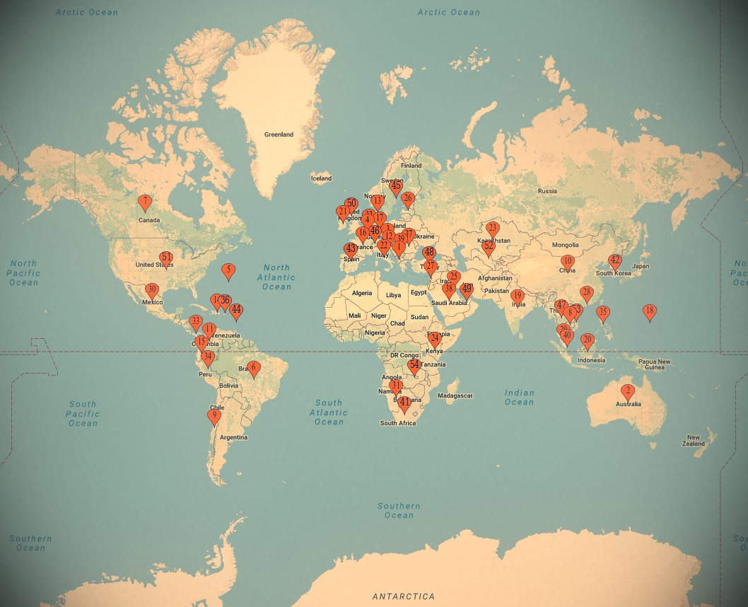 World Inspiration Map